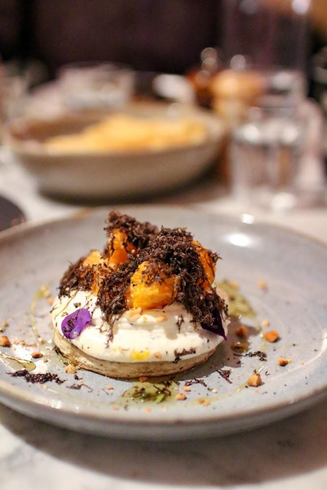 Three WIlliams Sourdough Crumpet with Truffle Ricotta