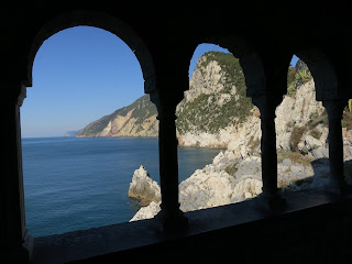 Cinque Terre coast from the loggia of San Pietro, Portovenere