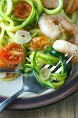 Lemon Garlic Shrimp Zoodles