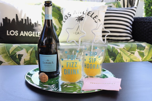 LAURA'S little PARTY: Create a refreshing mango cocktail with La Marca Prosecco