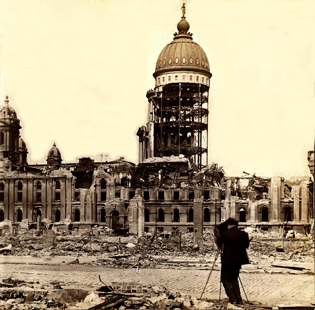 San Francisco Earthquake City Hall 1906 Public Domain Clip