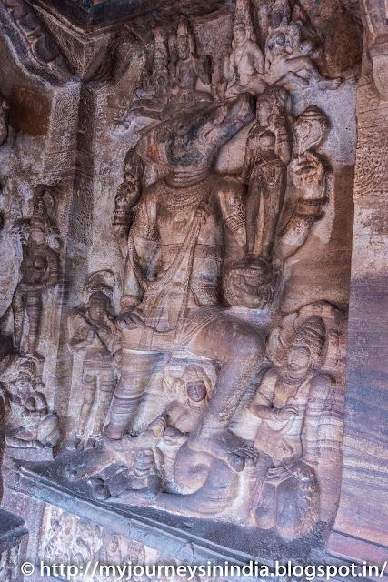 Badami Caves Varaha Avatar
