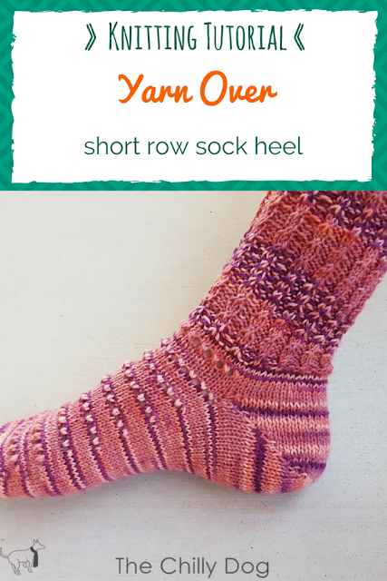 Video Tutorial: Yarn over short row heels are easy to knit and create a neat join on the sides of your sock heel.