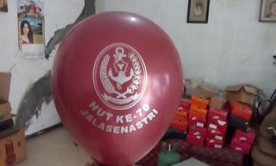 Sablon Balon HUT Jalasenastri