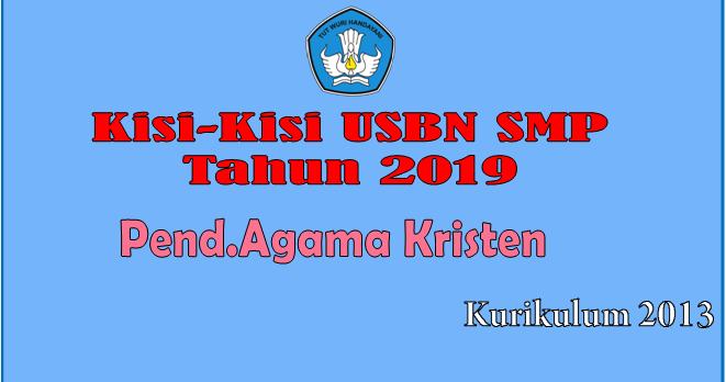 Download Kisi-Kisi USBN Pendidikan Agama Kristen SMP ...