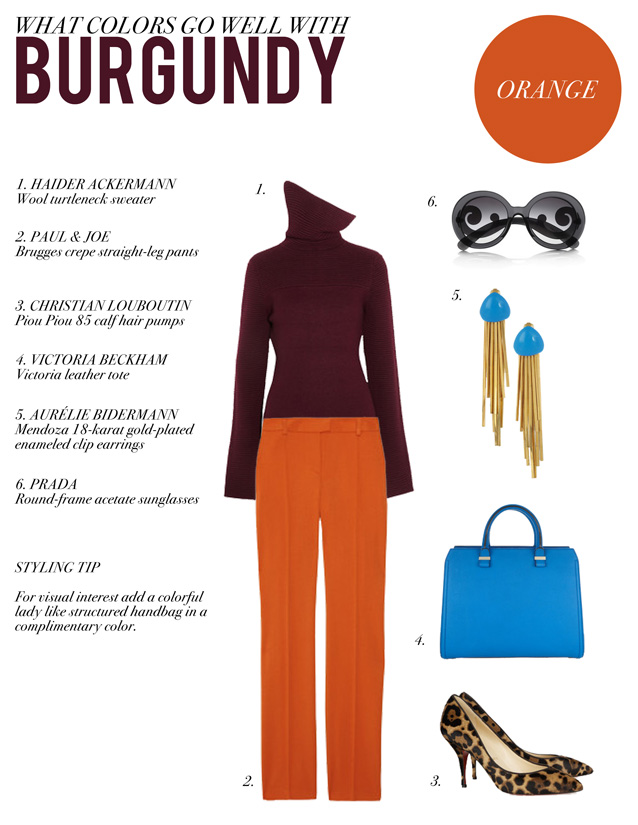 Style by Red: WHAT COLORS GO WELL WITH BURGUNDY
