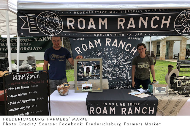 Roam Ranch booth at the Fredericksburg Farmers Market