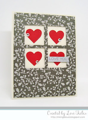 Love You card-designed by Lori Tecler/Inking Aloud-stamps and dies from My Favorite Things