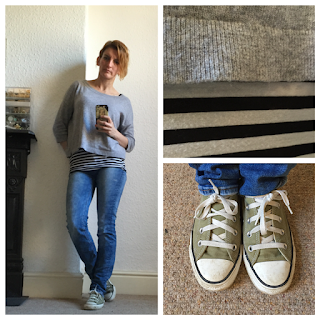 Boden Cashmere jumper, Next Jeans and Converse Trainers