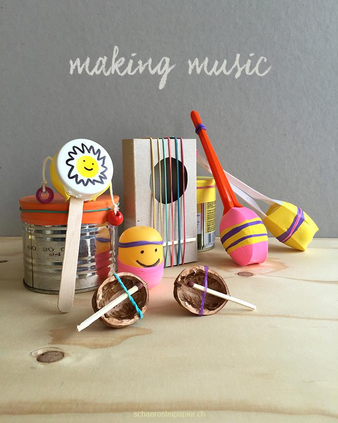 schaeresteipapier making music selber 6 instrumente basteln. Black Bedroom Furniture Sets. Home Design Ideas