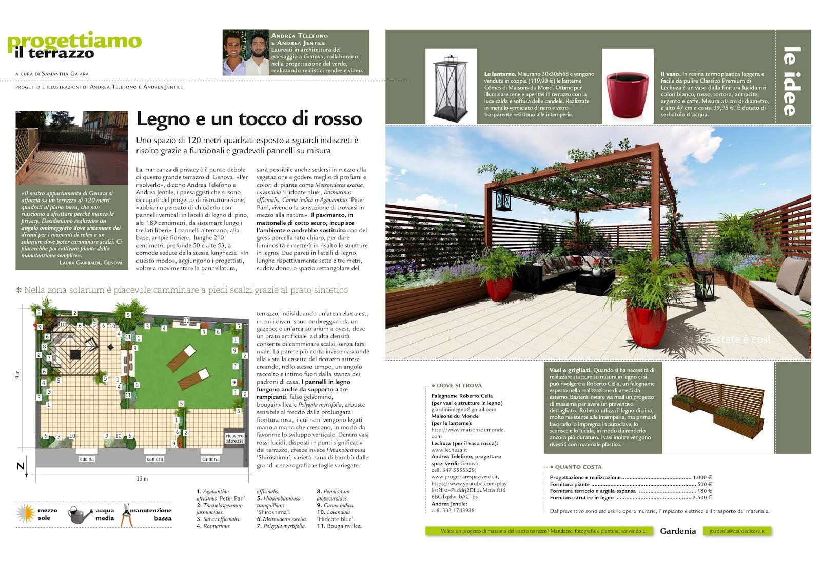 Progettare spazi verdi pubblicazione su gardenia marzo 2017 for Progettare spazi verdi