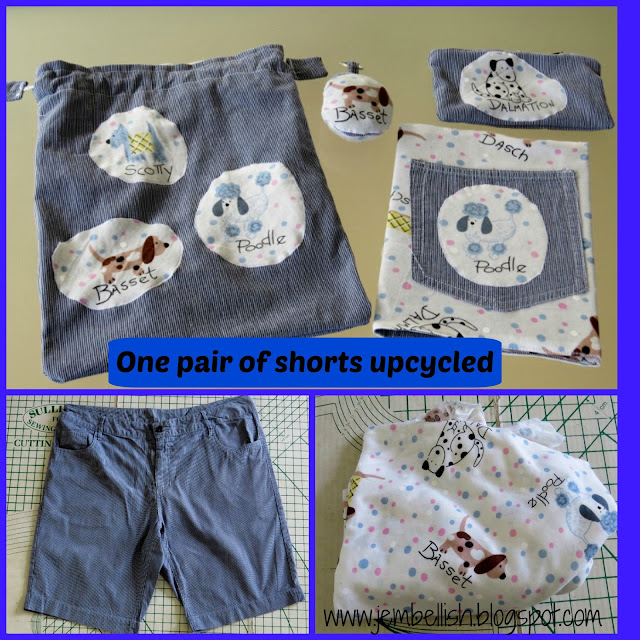 One pair of shorts upcycled