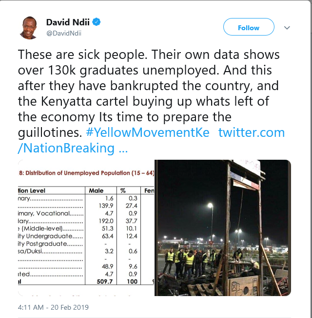 You Are Sick! David Ndii Suggests Killing Of Government Officials As HELB Scandal Escalates