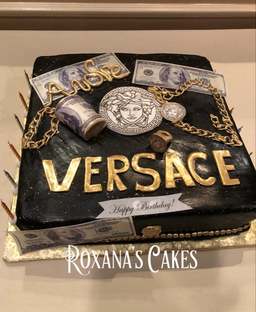 Baking With Roxanas Cakes Versace Birthday Cake