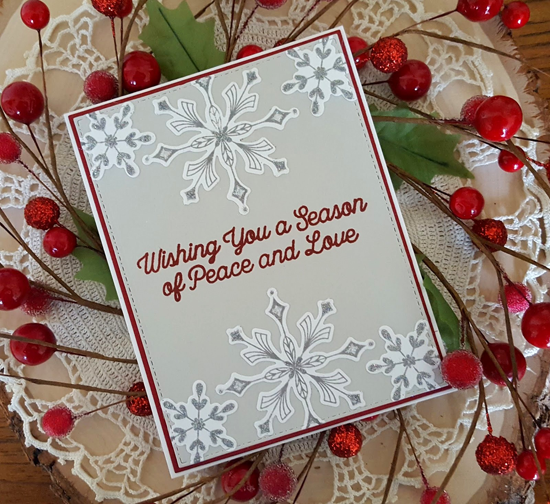 Snowfall of Blessings and Simply Snowflakes stamp sets - Rosemary D #mftstamps