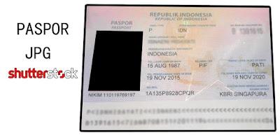 contoh paspor untuk di upload di shutterstock agar diterima