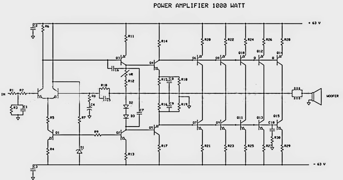 1000w Power Amplifier Circuit Diagrams - Schematic Wiring Diagram