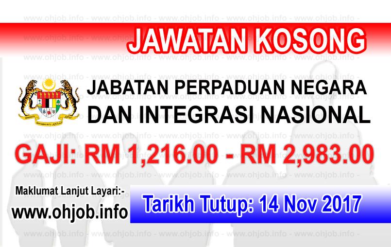 Jawatan Kerja Kosong JPNIN - Jabatan Perpaduan Negara dan Integrasi Nasional logo www.ohjob.info november 2017