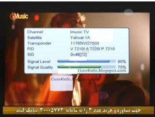 Goo4Info: IMusic FTA Start on Yahsat 1A 52°East Ku band
