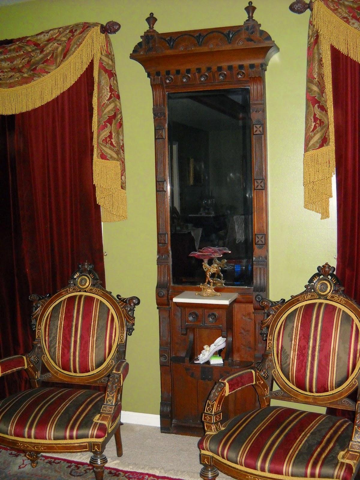 Victorian Wanna Be Estate Sale Find Antique Pier Mirror