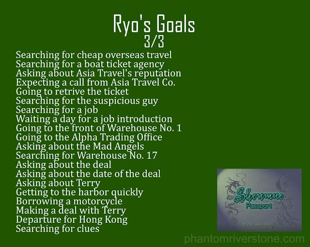 Ryo's Goals: 3/3