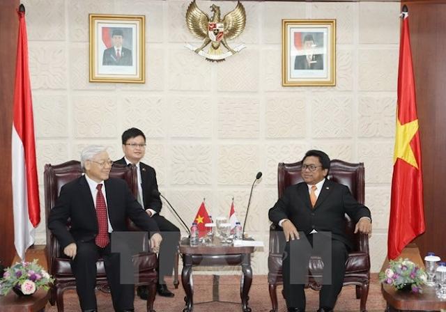 Vietnam, Indonesia aim for deeper strategic partnership