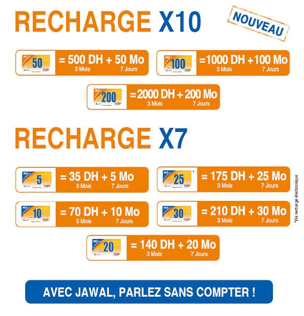 عرض X7 و X10  اتصالات المغرب