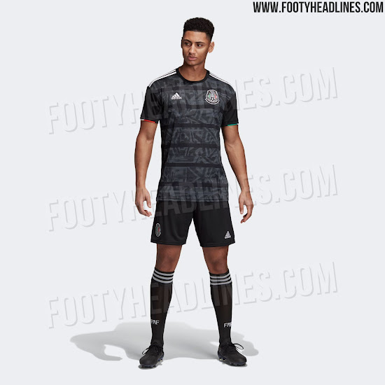 2fa8e0ee8 Black shorts and socks complete the Adidas Mexico 2019 Gold Cup home kit.  Interestingly