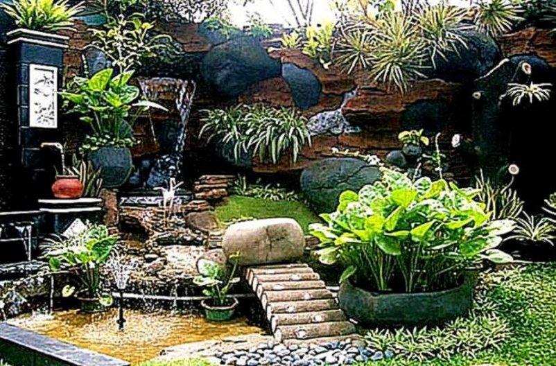taman halaman rumah moderen