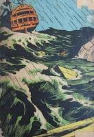 Aventuras de Hans Staden. Monteiro Lobato. Editora Brasiliense. Augustus (Augusto Mendes da Silva). Contracapa de Livro. Década de 1950. Década de 1960.