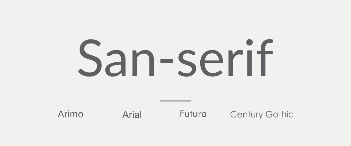 Mengenal Jenis-jenis Font - San-serif Font