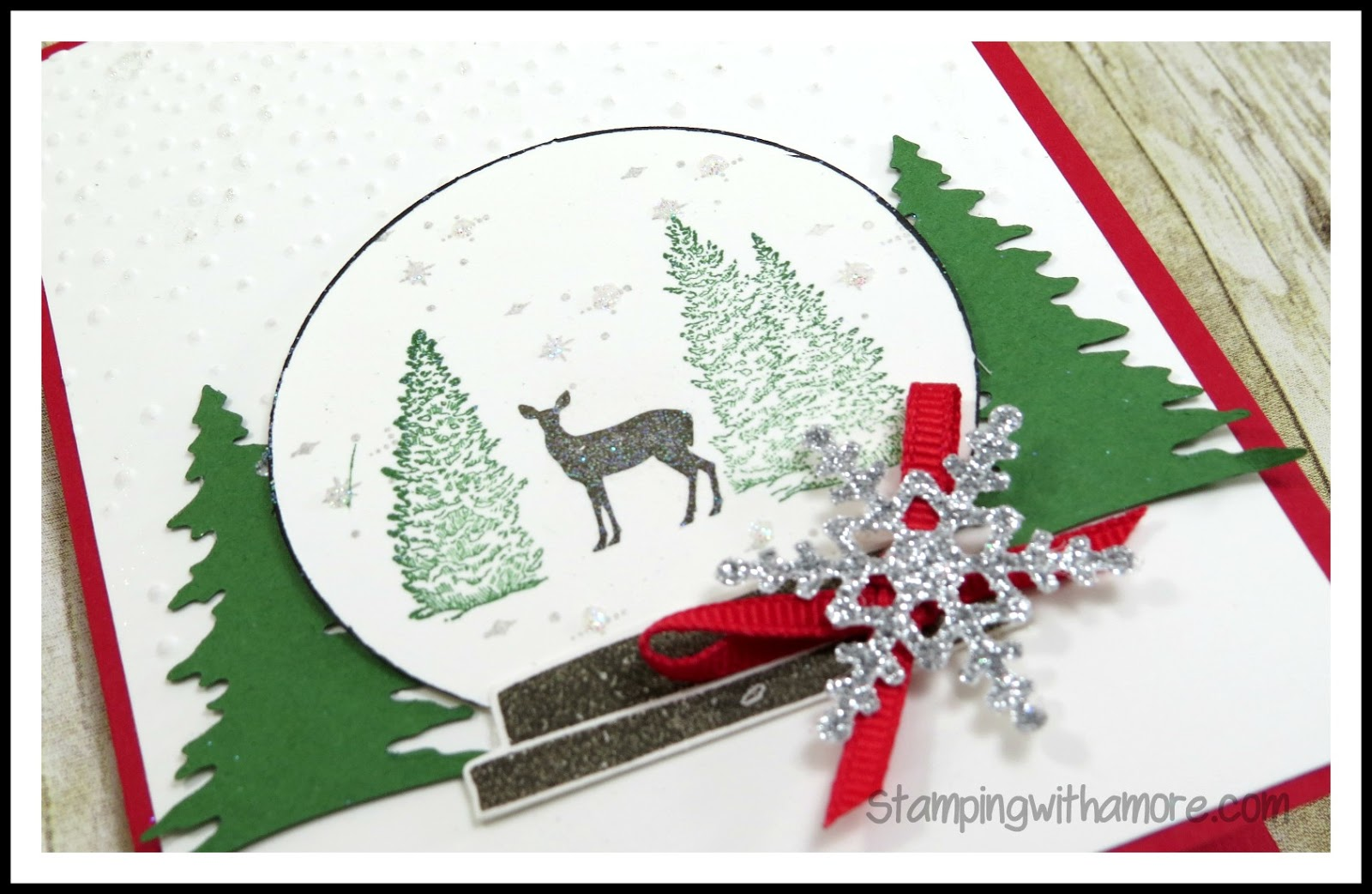 Stampingwithamore: CHRISTMAS SNOW GLOBE CARD