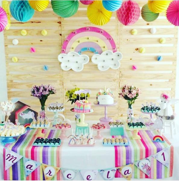 Ideias para uma decoração de festa no tema unicórnio