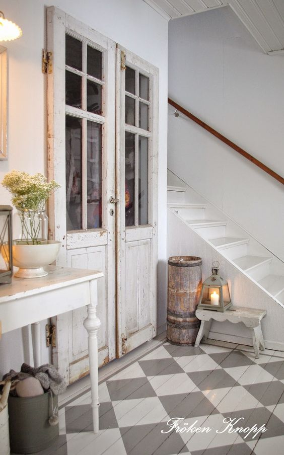 Swedish style interior design in country house - found on Hello Lovely Studio