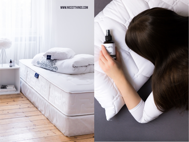 Boxspringbett mit hoher Matratze, DIY Pillow Spray