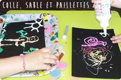 http://www.maman-clementine.com/2016/05/colle-sable-et-paillettes-diy.html