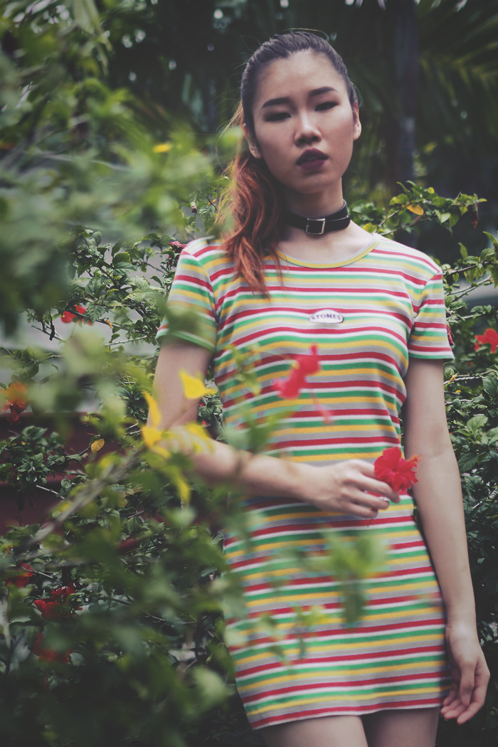 Brunei Blogger May Cho, hibiscus, tumblr, color, experimental, ,80s, vintage, flower