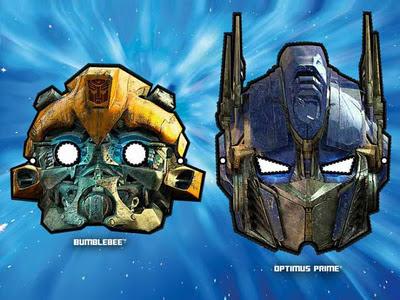Printable Transformers Masks Blebee Optimus Prime