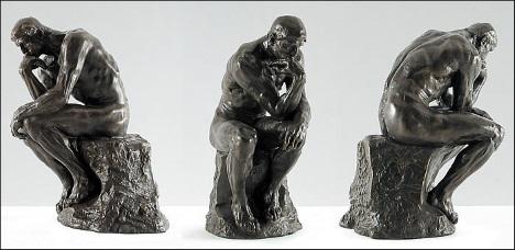 O Pensador, escultura de Auguste Rodin.