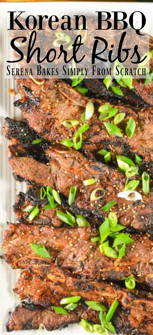 Galbi or Kalbi Korean BBQ Flaken Style Short Ribs are so delicious and tender for dinner from Serena Bakes Simply From Scratch.