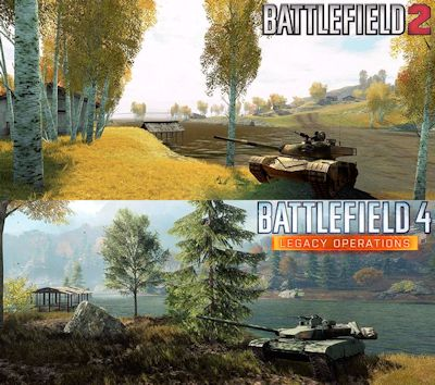 antes y después del mapa dragon valley de battlefield