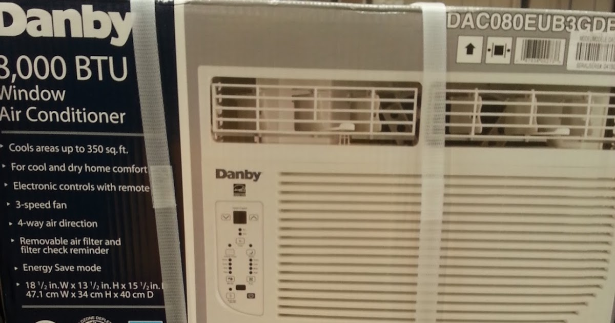 Danby Dac080eub3gdb Window Air Conditioner 8000 Btu