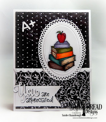 Our Daily Bread Designs Stamp Set: Class Act, Custom Dies: A+Apples, Pierced Ovals, Ornate Ovals, Pierced Rectangles, Bitty Borders, Pennant Flags, Stamp/Die Duos: You Bless Me So, Paper Collection: Chalkboard