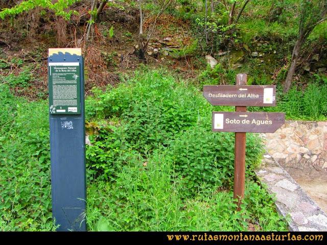 Ruta del Alba: Carteles indicativos de la ruta del Alba