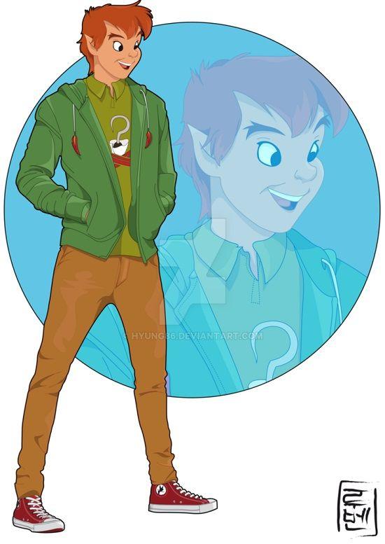 空中庭園と幻の飛行船 もしもディズニープリンス 男性キャラが大学生になったら を描いたイラスト