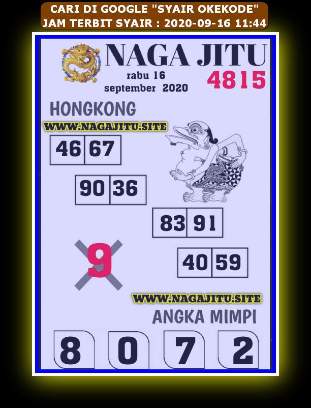 Kode syair Hongkong Rabu 16 September 2020 270