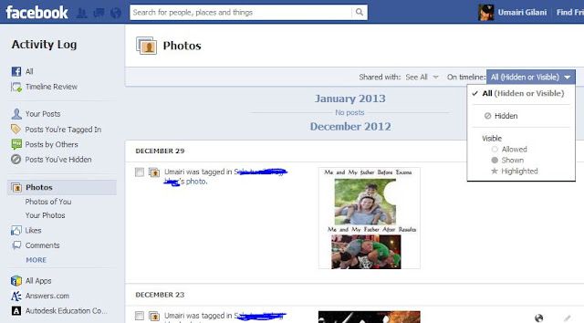 Facebook Privacy Photo Setting