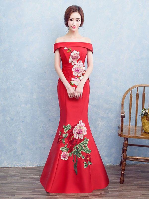 #Cheongsam Prom Dress Copy Now