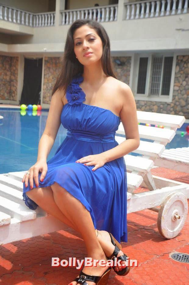 , Actress Sada in Blue Dress - Tamil Film Actress