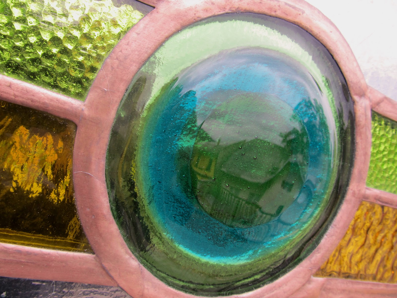 vodopád - závěsná vitráž - detail